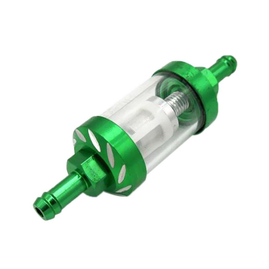 gazechimp 8mm Filtro Benzina in Vetro Removibile Moto Spocizia - Verde