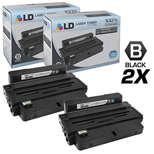 LD © Compatible Replacements for Xerox 106R02307 Set of 2 High Yield Black Laser Toner Cartridges for use in Xerox Phaser 3320 Printer