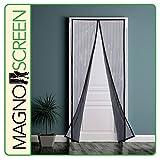 Park Ridge MSD3280 Magnetic Screen Door, 32x80'', Black