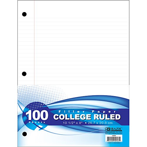 BAZIC C/R 100 Ct. Filler Paper (Case of 36) by Bazic
