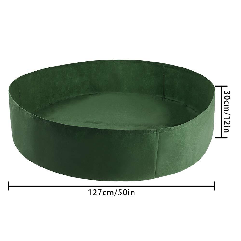 para Plantas Vegetales de Hierbas Fieltro elevadas Takefuns 100 Gallon-2pcs Juego de 2 macetas de Tela Extragrande para Plantar Plantas Redondas 127 * 30 * 0.01CM