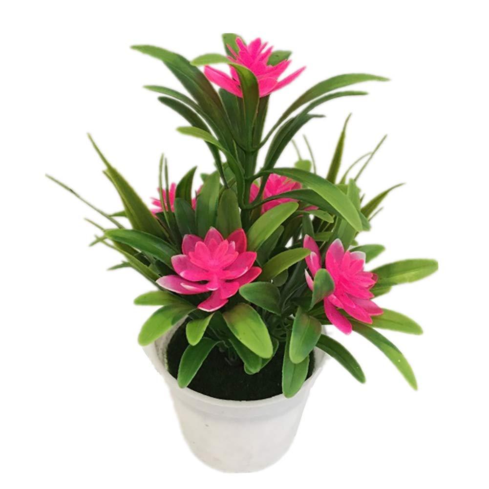 Super1798 人工 フェイク 蓮の花 鉢植え 盆栽 結婚式 パーティー ガーデン 室内装飾 ピンク super21011270 B07L999BM7 ピンク