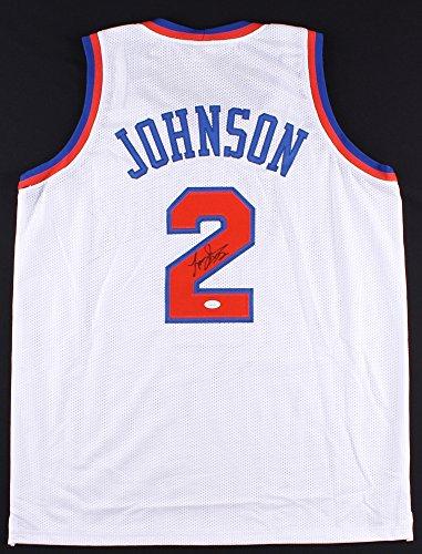 Larry Johnson #2 Signed New York Knicks Jersey (JSA COA)