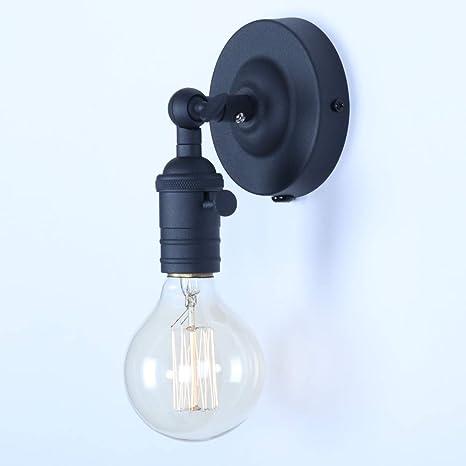 Lámparas Apliques de Pared Luces Clásicas Iluminación Vendimia Retro Rústico para E27 Bombilla Escalera Dormitorio Espejo