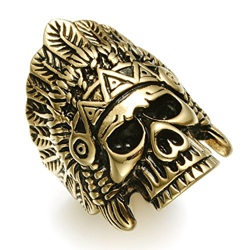 Buy indian head rings for men gold