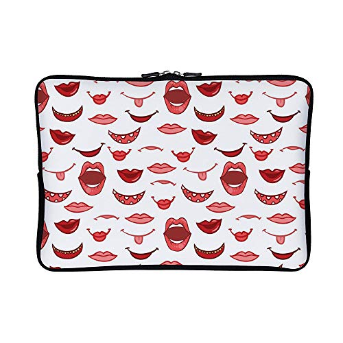 Case Notebook Roller Vaio Sony - DKISEE Abstract Seamless Floral Neoprene Laptop Sleeve Case Waterproof Sleeve Case Cover Bag for MacBook/Notebook/Ultrabook/Chromebooks