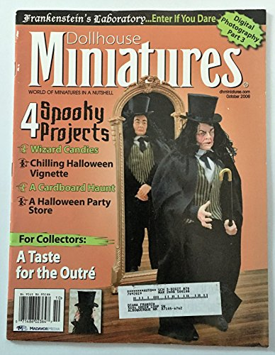 Dollhouse Miniatures. October 2006. Frankenstein's Lab- Spooky Projects. Halloween Issue -