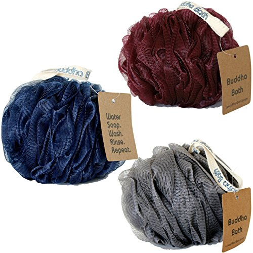 buddha-bath-large-mesh-loofah-pouf-bath-sponges-3-pack-sophicato