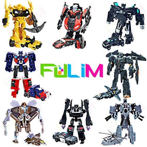 8 Pcs Mini Car Robot Toys, 3.5-inch Small Hero Action Figures, Birthday Favors Toys for Kids Age 5 and up.