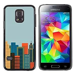 Stuss Case / Funda Carcasa protectora - The Cosmopolitan City - Samsung Galaxy S5 Mini, SM-G800