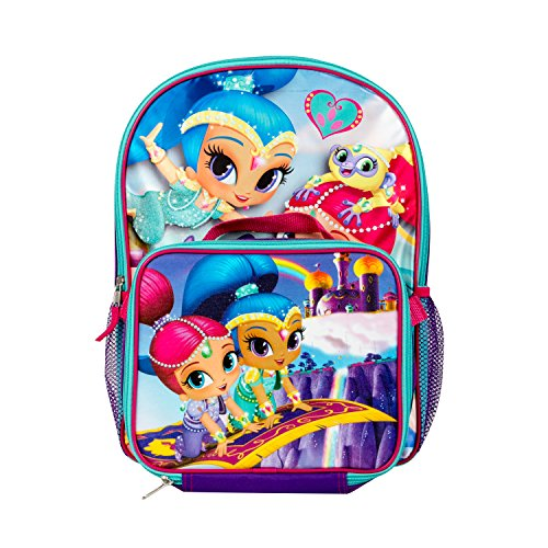 (Nickelodeon Shimmer and Shine Rainbow Backpack with Insulated Lunch Kit for Girls)