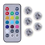 Best Fish Tank Decorations - 5Pcs Colorful Remote Control RGB Submersible Waterproof LED Review