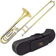 Glory High Grade Bb/F Key Intermediate TENOR Trombone with Case and 61/2Mouthpiece , Gold Finish, Click to see more choice