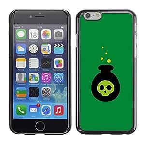 FECELL CITY // Duro Aluminio Pegatina PC Caso decorativo Funda Carcasa de Protección para Apple Iphone 6 Plus 5.5 // Poison Bomb Cartoon Halloween Witch