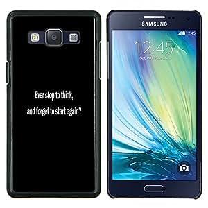 "Be-Star Único Patrón Plástico Duro Fundas Cover Cubre Hard Case Cover Para Samsung Galaxy A5 / SM-A500 ( ¿Alguna vez se detienen a pensar?"" )"