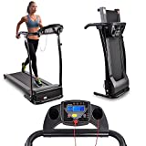 Kova Inc. 1100W Folding Electric Treadmill Motorized Running Machine (Black)