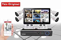 Yes-Original 1080P HD-TVI Security Camera System 8CH DVR Recorder and (8) 2 MP 1920TVL Indoor / Outdoor Fixed CCTV Cameras - NO Hard Drive Included