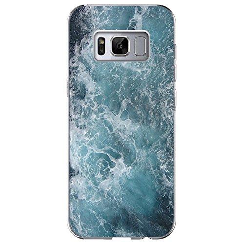 Funda Samsung Galaxy S8, Vanki® Mármol [ Tecnología IMD ] Transparente Silicona TPU de Flexibilidad Carcasa Case Bumper Ultra Delgado para Galaxy S8 Plus 2