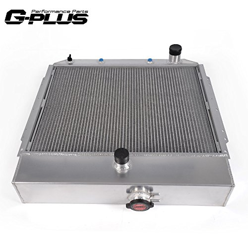 1956 Ford F100 Parts - 2 Row Core Aluminum Performance Racing Radiator Replacement For 1953 1954 1955 1956 Ford F100 F250 F350 Pickup Truck L6 V8 AT/MT