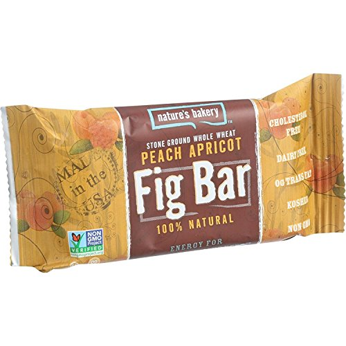 (Nature s Bakery Stone Ground Whole Wheat Fig Bar - Peach Apricot - 2 oz - Case of 12 - Dairy Free - Yeast Free - Vegan)