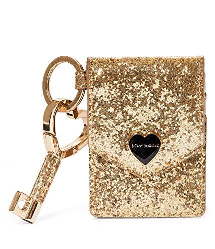 Betsey Johnson BJ63105H Gold Glitterazzi Keychain