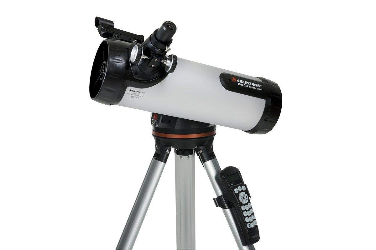 Celestron 73150251 lcm 114 télescope réflecteur court et informatisé
