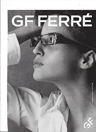 MAGAZINE ADVERTISEMENT For Gianfranco Ferre Black - Sunglasses Ferre