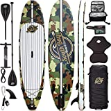 SBBC ||- Inflatable Stand Up Paddle Board || 10'6 Aqua Discover ISUP Package || Universal Paddleboard, Wide Stance, Rigid Dual Layer 6 inch Thick Inflatable SUP | Non-Slip Deck | Youth and Adult