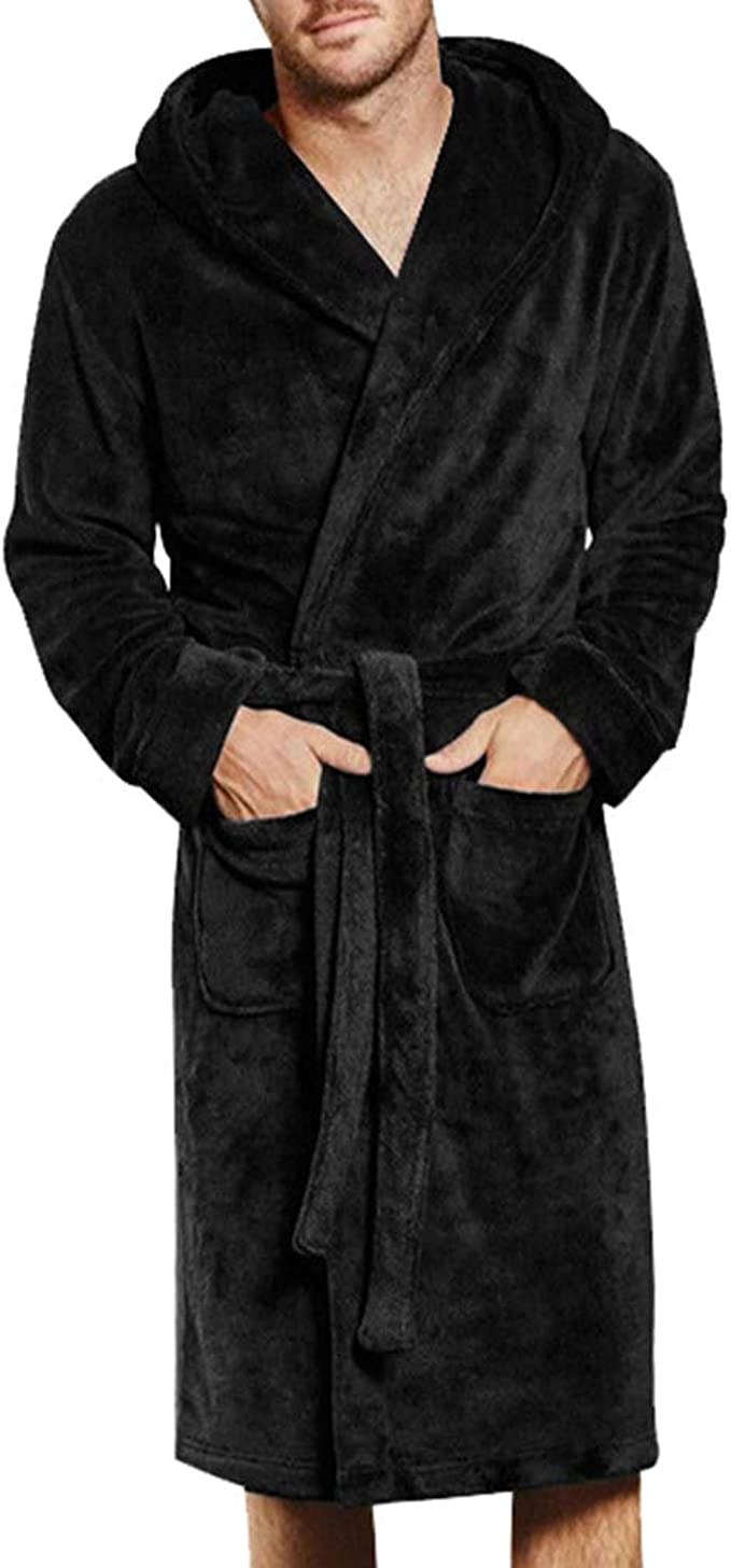 In Solid Burgundy Luxury 100/% Cotton Robes Shawl Collar
