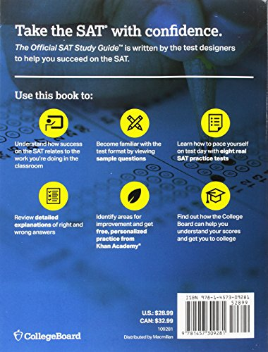 The Official SAT Study Guide, 2018 Edition (Official Study
