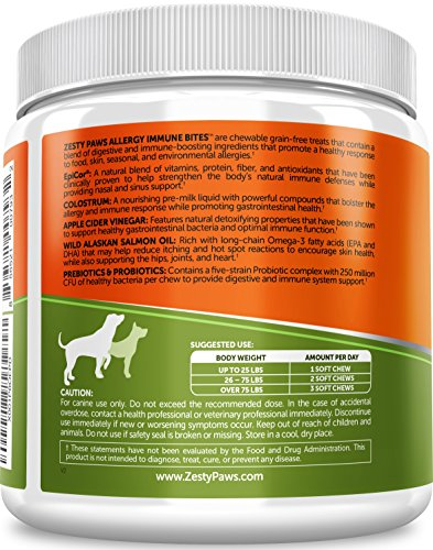 Allergy Immune Supplement for Dogs Itch Remedies
