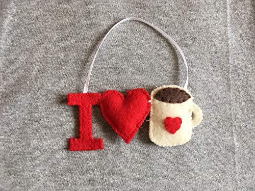 I Love Coffee Ornament in -