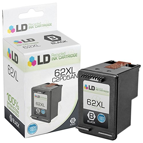LD © Remanufactured Replacement for HP C2P05AN / 62XL High Yield Black Ink Cartridge for HP ENVY 5640, 5642, 5643, 5644, 5646, 5660, 7640, 7645, OfficeJet 5740, 5742, 5745, 200, 250