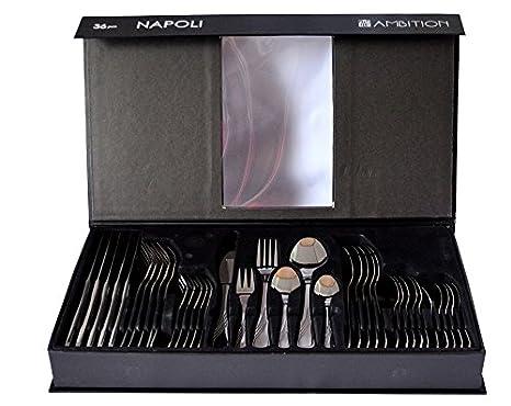 Cubertería NAPOLI Ambition 36 elementos nuevo & embalaje original: Amazon.es: Hogar