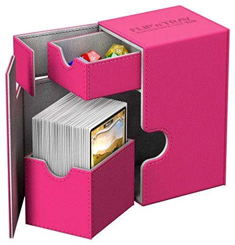 Ultimate Guard - Deck Box: Flip N Tray 80+ Xenoskin Pink ()