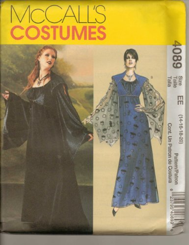 [McCalls Costumes Gothic Costumes Goth Dress Paper Patterns NEW] (Goth Dress)