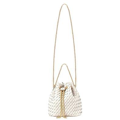 b629ada58e12 Amazon.com  Goodbag Boutique Women Fashion Drawstring Bucket Bags Mini Tote  Handbag Chain Shoulder Bag Casual Crossbody Bag Satchel Purse (Beige)   Goodbag ...
