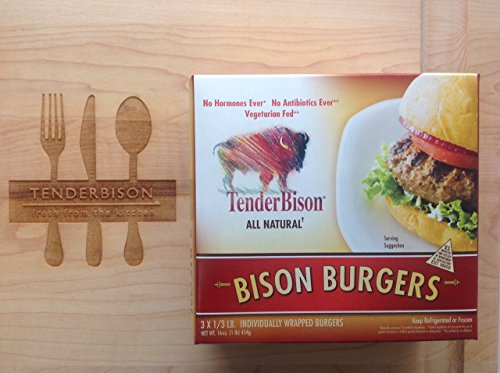 Buffalo (Bison) 5.3 oz.(1/3 Lb.) Burger Boxes - (4-1 lb. Boxes) (Count 12)