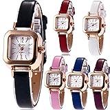 Yunanwa 6 Pack Women's watches Leather Quartz Jelly Dress Slim Wristwatch Bracelet Brand Summer