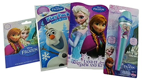 Frozen Bundle – 4 Items: Light up Music Melody Sing a long Microphone