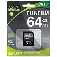 Fujifilm 64GB UHS-II Elite II Performance U3 Class 10 SDHC Card, 285MB Transfer Speed