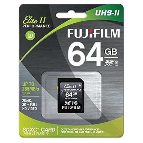 Amazon.com: Fujifilm 64 GB uhs-ii Elite II Performance ...