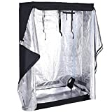 "Giantex Plant Growing Tent Indoor Grow Tent Room Reflective Mylar Hydroponic Non Toxic Clone Hut 6-Size Indoor Grow Tent(48""X24""X72"")"