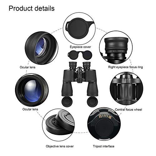 Binoculars 20x50, HD Professional/Waterproof Binoculars with Low Light Night Vision, Durable & Clear BAK4 Prism FMC Lens Binoculars. Suitable for Outdoor Sports and Concert, Bird Watching.