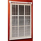 Magne 40-Inch Vinyl Mini Blind with 1-Inch Slats and 25-Inch Width, 40-Inch Drop