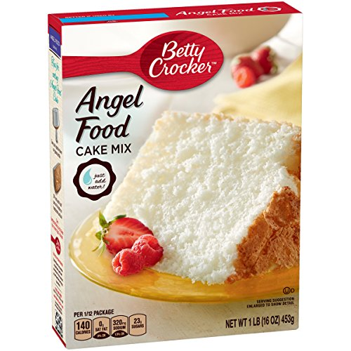 Betty Crocker Super Moist Fat Free Cake Mix Angel Food 16.0 oz Box (pack of 12)