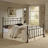 Dexter Complete Bed with Decorative Metal Castings and Globe Finials, Hammered Brown, King