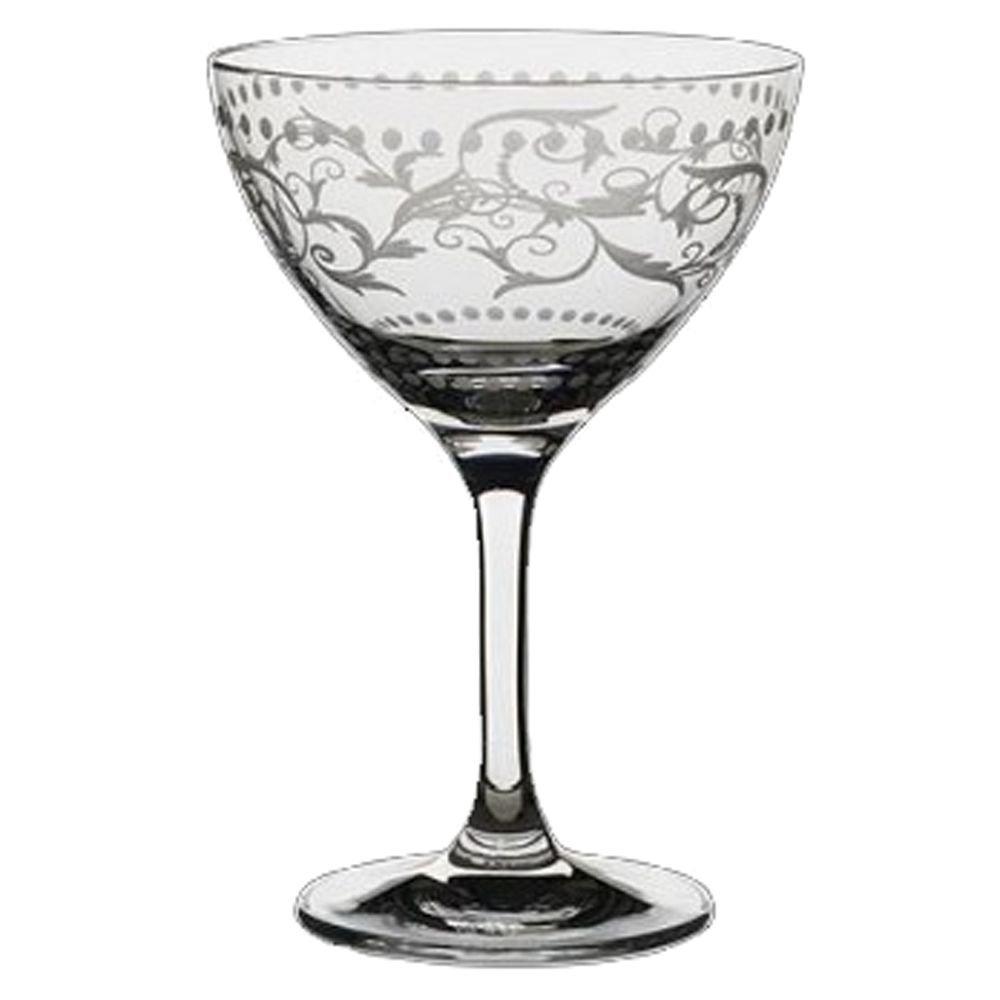 Steelite 4854RA354 Vintage Dots 8 Oz Martini/Cocktail Glass - 24 / CS