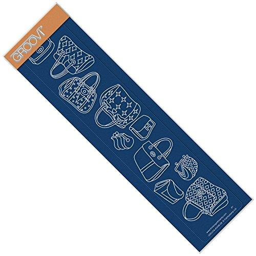 Groovi Plate by Claritystamp ~ Handbags Groovi Border Plate, GRO40498 by Groovi