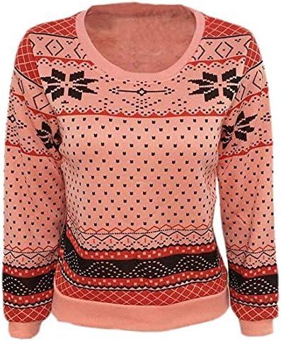 女性スウェットシャツ カジュアルシックスクープネック フローラルプリント プルオーバー スウェットシャツ Pink US Small